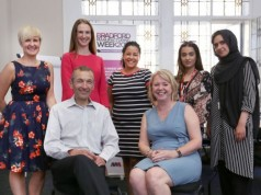 Bradford Manufacturing Week sponsors and teachers planning at CPD event