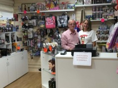 Ian and Karen Riley in The Celebrity Gift Company's new shop in Middlesbrough's Dundas Market