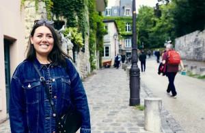 Emma Natrass-Daniels location scouting in Paris