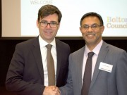 Mayor of Greater Manchester Andy Burnham and Cllr Ebrahim Adia