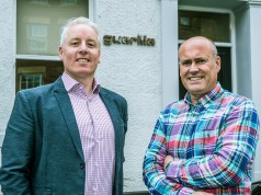 Andy Metcalfe (left), MD of Opal IT with James Allen, MD of Guerilla