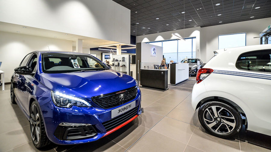 JCT600's refurbished Peugeot Bradford dealership