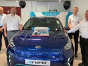 Lookers Kia Chester team at the opening of their Sealand Road dealership (front) L-R: Werner Hofmann & Ellick Peters (Back) L-R: Mark Starling & Matt Critchley