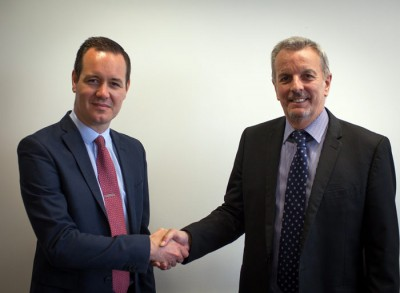Mark Haydock, Managing Director, EDP – Health, Safety & Environment Consultants Ltd (left) with Rob Aitken, CEO, IOM Consulting Ltd (right)