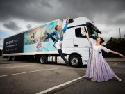Matthew Koon & Rachael Gillespie with Northern Ballet first direct lorry