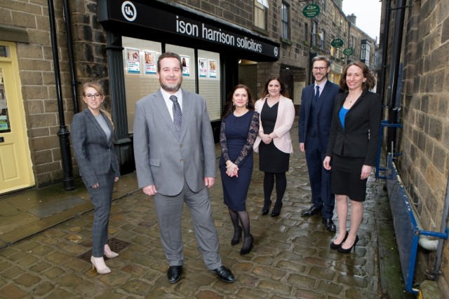 Ison Harrison partner Nigel Cowley (front) and the team at the new Otley office with managing partner Jonathan Wearing (second from right)