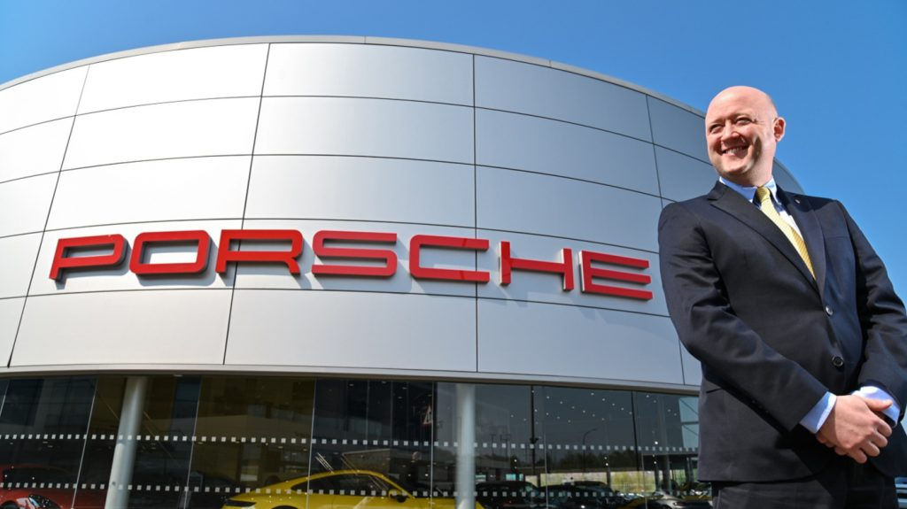 James Bridge, JCT600's head of business at Porsche Sheffield, at the recently refurbished showroom