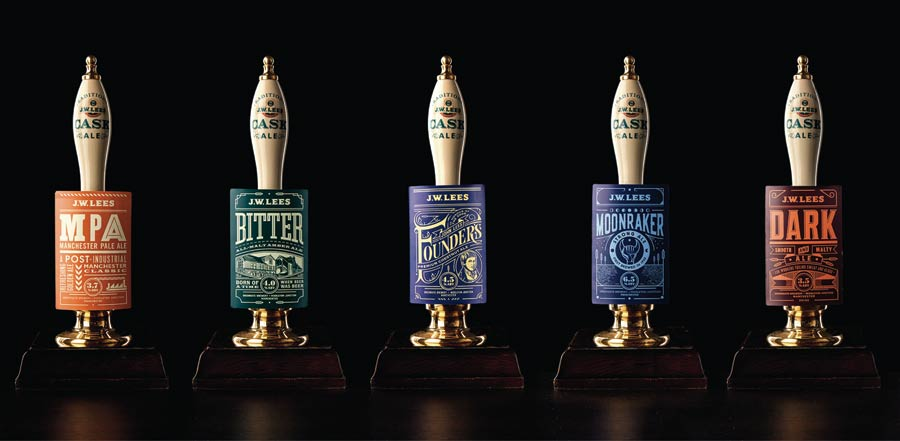 The new beer range Squad designed for North West brewer JW Lees