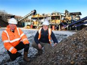 Adrian Parnaby (left) and Peter Scott with the newly commissioned £1m wash plant.