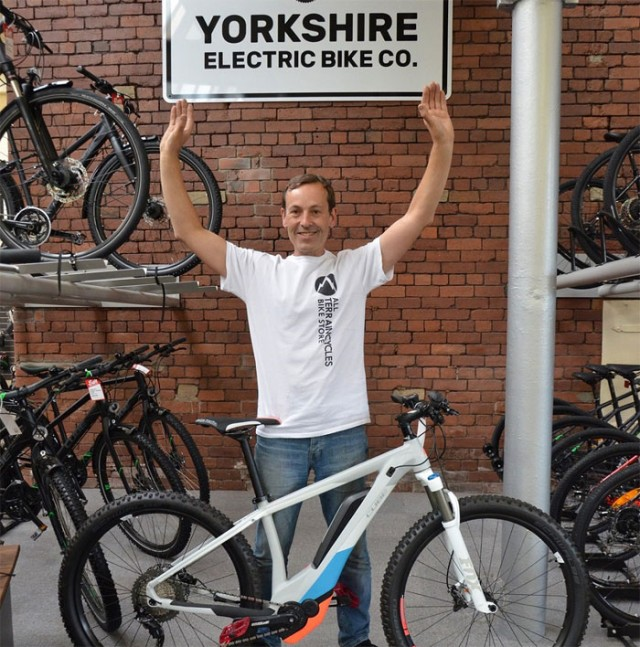Tony Booth, managing director of Yorkshire Electric Bike Company