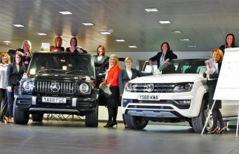 Some of the JCT600 team celebrating the company's membership of the UK Automotive 30% Club which aims to attract more women into the automotive sector.