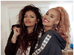 yoti Matoo, left, with singer Raye